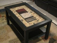 Very nice cork coffee table!  Could be a side table too.