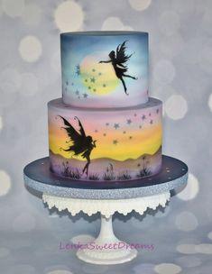 Fairy Fantasy Silhouette Cake. on Cake Central