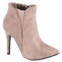 Botine cu toc - Botine kaki cu toc AB6119K - Zibra Booty, Ankle, Shoes, Fashion, Moda, Swag, Zapatos, Wall Plug, Shoes Outlet