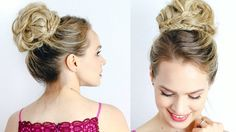 Here's a hair tutorial on a red carpet inspired high updo! I saw lots of amazing bun updos this season, and I think they'd be perfect for prom or weddings co...