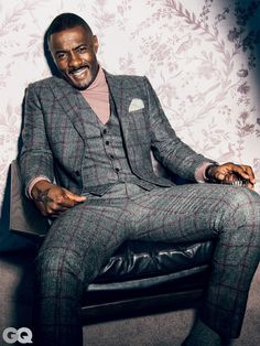 Idris Elba & 9 More of the Year's Sexiest Men Sharp Dressed Man, Well Dressed Men, Mens Fashion Suits, Mens Suits, Black Men In Suits, Plaid Suit, Stylish Mens Outfits, What To Wear Today, Mode Streetwear
