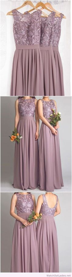 Dramatic vintage lace bridesmaid dress
