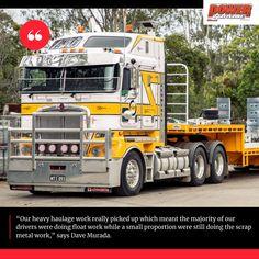 The first half of the noughties saw the company reach the dizzying heights of 36 trucks including a number running around Brisbane hauling scrap metal. #powertorque #truckingaustralia #heavyhaulage