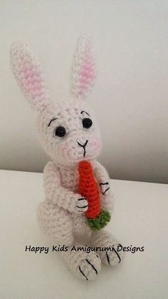 CUTE BUNNY-Amigurumi Crochet Pattern by HappyKidsAmigurumi on Etsy