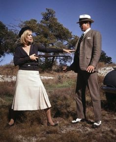 """the60sbazaar: """"Faye Dunaway and Warren Beatty for Bonnie and Clyde """""""