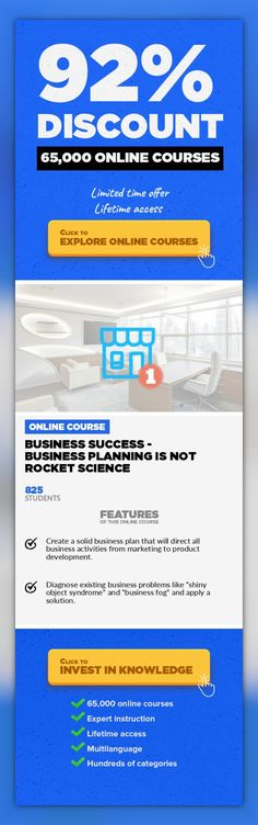 Business Success - Business Planning is Not Rocket Science Entrepreneurship, Business #onlinecourses #survivalskills #CoursesApp  Creating a Rock Solid Business Foundation. Solopreneur Business Success - Level 1 is the essential course for anyone who wants to build a successful business either as a coach, and information product developer or a creative consultant. If you can't get traction in your...
