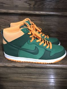 competitive price 0551f d6244 Mens Nike Dunk High Court GreenOrange Sz. 11.5 ID 317982-303