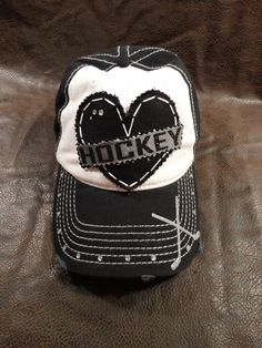 Hockey Mom Glitter and Bling hat by BlingirlSpirit on Etsy Hockey Girls, Hockey Mom, Ice Hockey, Hockey Stuff, Mom Hats, Diy Gifts For Him, Vegas Golden Knights, Accent Colors, Love Heart