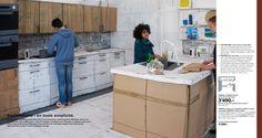 benedetto bufalino IKEA catalog out of cardboard