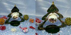 Купить Интерьерные новогодние елочки.Елочка новогодняя с шаром в интернет магазине на Ярмарке Мастеров