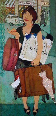 "Saatchi Art Artist Otar  Imerlishvili; Painting, ""shopaholic"" #art"