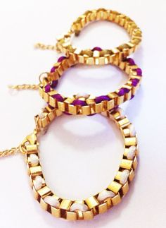 Chain and Silk Bracelet. Jordan bought me one and I love it!!!!
