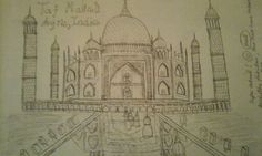 The Taj Mahal ; Agra in India. My epic drawing. Hope you like it. Epic Drawings, Agra, Taj Mahal, Stuff To Do, India, Board, Delhi India, Sign, Planks