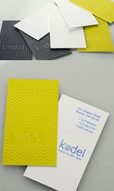 Mustard, gray + white business cards