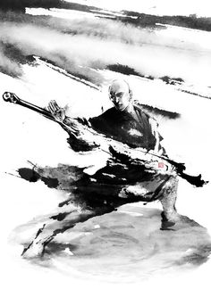无标题 — Kung fu painting Comfortable Tai Chi Uniform on. Ronin Samurai, Samurai Art, Sketch Painting, Ink Painting, Japanese Painting, Japanese Art, Chinese Painting, Martial Arts Techniques, Tinta China