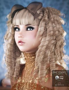 Goldie Locks Hair for Genesis 3 Female(s) | 3D Models and 3D Software by Daz 3D