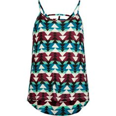 FULL TILT Bar Back Ethnic Print Girls Hi Low Top