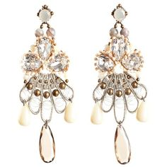 Tataborello Crystal & Pearl Chandelier Earrings found on Polyvore by clarissa