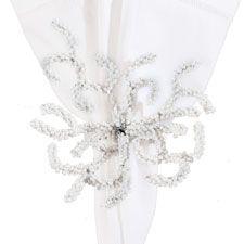 Cream Coral Napkin Rings   OceanStyles.com