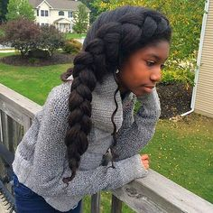Thick hair don't care. So beautiful ! @njb7nyc #thickhair #naturalhair #braids #kidshair #thickhairdontcare #goals #hairenvy #beautiful #tgin #tginatural #sk by tginatural