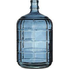 Stijlvolle glazen vaas Ruit voor extra sfeer in huis. Hoogte: 27 cm. Kleur: blauw.