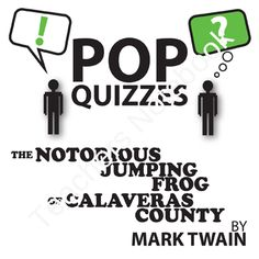 Notorious Jumping Frog Quiz & Discussion Questions (by Mark Twain) from CreatedForLearning on TeachersNotebook.com (3 pages)  - Notorious Jumping Frog Quiz & Discussion Questions (by Mark Twain)  This 5-question pop quiz and 5 discussion questions for THE NOTORIOUS JUMPING FROG OF CALAVERAS COUNTY by Mark Twain will check for reading comprehension and make students are reading
