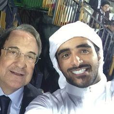 Florentino Pérez (Presidente del Real Madrid) y el jeque Rashid bin Saeed bin Mohammed Al Maktoum, 30/12/2014. Vía: rashidalmaktoum