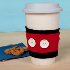 For coffee drinkers use felt to create a heat protector for mugs