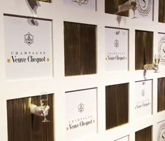 Step & Repeat Champagne Wall outside