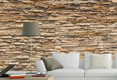 Stone Roll Modern Brick Wall 3D Background Wall Wallpaper For Living Room Vinyl