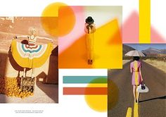 This bouncy optimistic spring mood board is perfect for this time of year, I have named it the Fruit Salad - as the images are just like those delicious pink and orange sweets, It's a pic a mix of Kate Spade, Mark Jacobs, and Rodarte fashion ads and tears from look books.