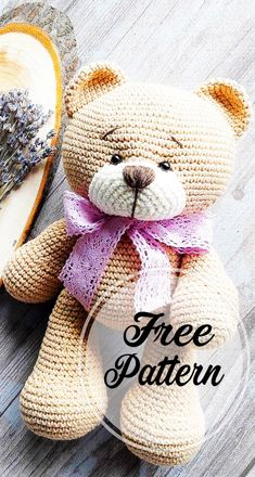 Crochet bear amigurumi free pattern part crochet amigurumi; amigurumi instructions free of charge; amigurumi crochet pattern for fre Bunny Crochet, Crochet Amigurumi Free Patterns, Crochet Dolls, Free Crochet, Knitting Patterns, Crochet Teddy Bear Pattern Free, Crochet Animals, Crochet Teddy Bears, Amigurumi Minta