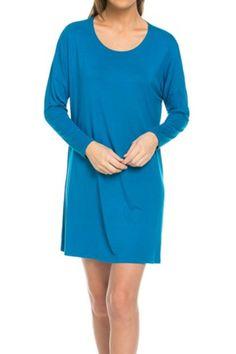 Oversized Long Sleeve Tunic Dress