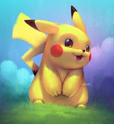 Pikachu! ❤️ What's your favorite Pokémon? (Created by Cassio Yoshiyaki) #videogames #games #gamingplus