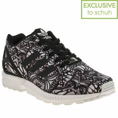 18a2d59d9 Womens Black   White Adidas Zx Flux Butterfly Trainers