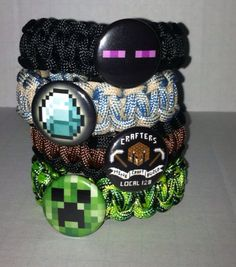 Minecraft Party Favors for 5  Bracelets