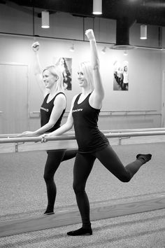 Standing with straight leg in turnout with bent leg, Pure Barre ballet-inspired pre-wedding workout    junebugweddings.com