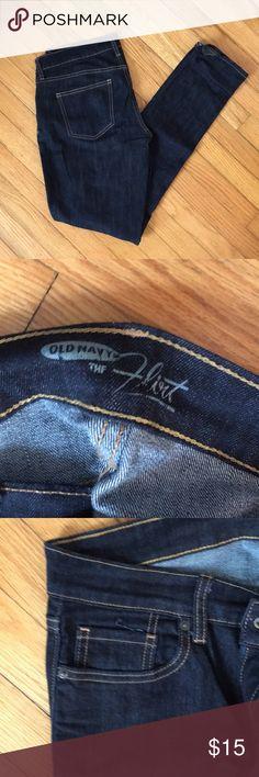 Straight leg dark rinse old navy jeans Dark the Flirt Old Navy jeans size 8 LONG Old Navy Jeans Straight Leg