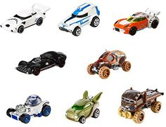 Two of boys' favorite brands-Hot Wheels and Star Wars-have joined forces! Kids and collectors alike will love seeing their favorite Star Wars characters reimagined as 1:64-scale Hot Wheels cars. Iconi...