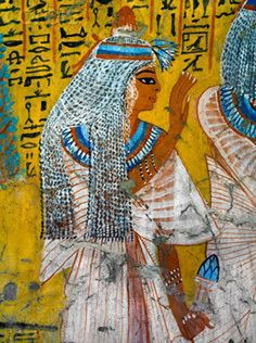 ♔ Painting of Tausert from the Tomb of Irinufer