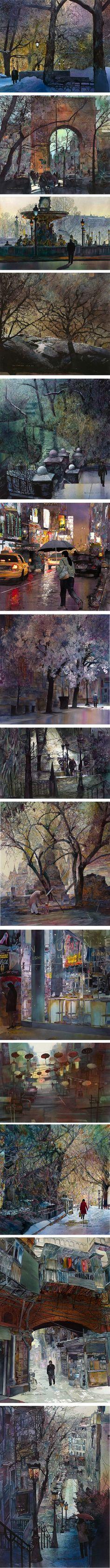 John Salminen watercolors