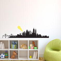 City Skyline Silhouette Gotham Metropolis etc  Wall by danadecals, $35.00