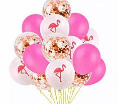 "Pink Flamingo Balloons 11/"" Latex x 5 pck garden summer party bbq"