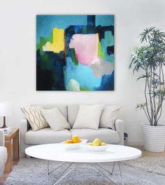 ORIGINAL PAINTING Large abstract art modern art by SarinaDiakosArt