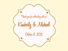 SLABELS FOR WEDDING BAGS | 50 5x4 Wedding Favor / Welcome Bag Labels by LabelsRus on Etsy