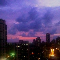 Evening skies from my apartment