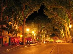 cours mirabeau  aix-enprovence, south of france