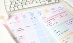 Des plannings pastel à télécharger pour planifier votre semaine/journée