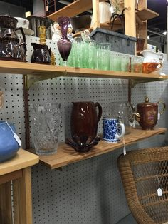 You can never have enough fancy glassware around the house! Here are some of Maggie and Dick Allen's unique glass and vase pieces.