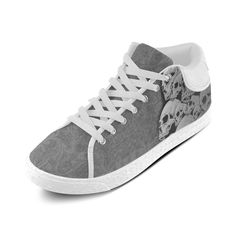 Custom Cool Design Skull Pattern Print Design Chukka Canvas Shoes for Women(Model003)
